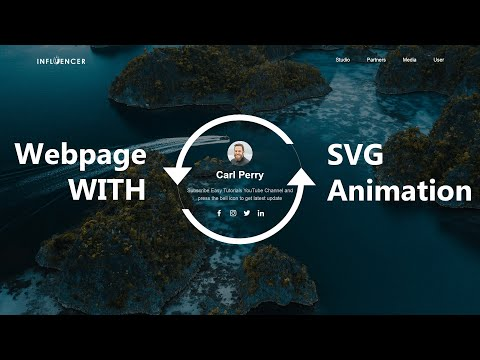 How To Make Website Using HTML, CSS, JS With SVG Animation Step By Step Tutorials 1